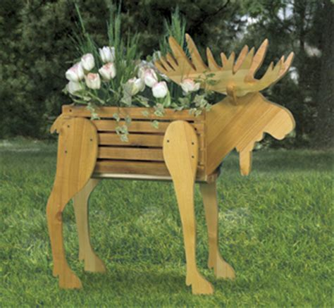 pattern wood craft outdoor accents moose planter woodcraft pattern
