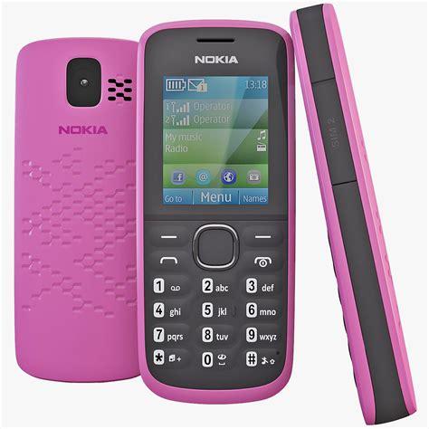 3d themes nokia 110 pink nokia 110 cellphone 3d obj