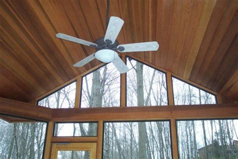Cedar Porch Ceiling Cedar Screen Porch With V Joint Ceiling In Stamford