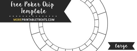 Poker Chip Template Large Chip Label Template