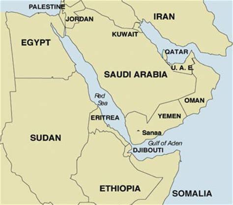 africa map yemen map showing position of yemen