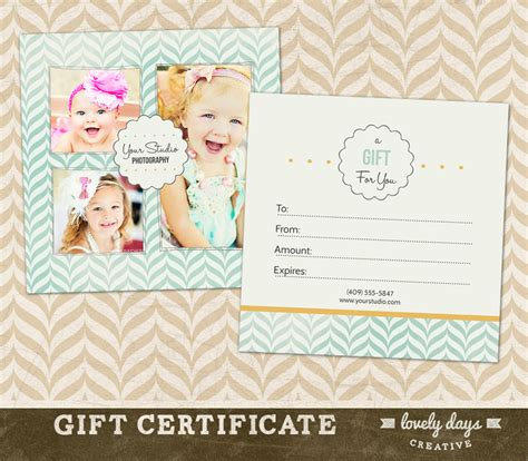 photoshop gift certificate template photography gift certificate template for by