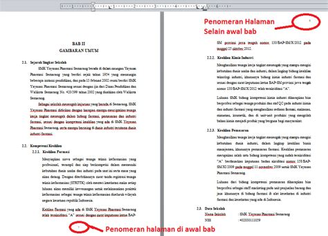 cara membuat daftar isi berbeda file cara membuat nomor halaman di setiap awal bab berbeda pada