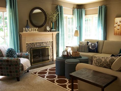 Under Valance Lighting Teal And Taupe Living Room Contemporary Living Room