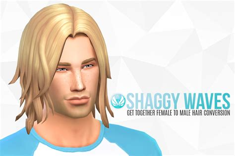 long hairstyles for men sims 4 sims 4 hairs simsational designs shaggy waves gt