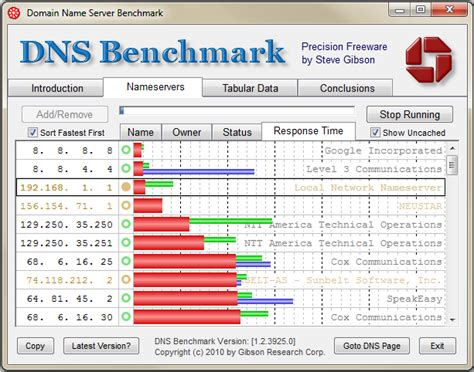 dns bench gibson research corporation mick genie s blog