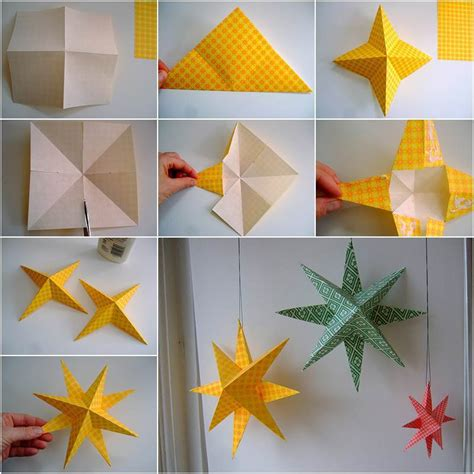 creative ideas diy easy paper star decor