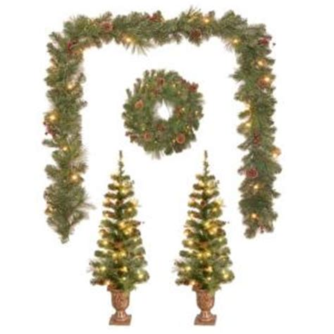 4 ft pre lit st nicolas entryway artificial