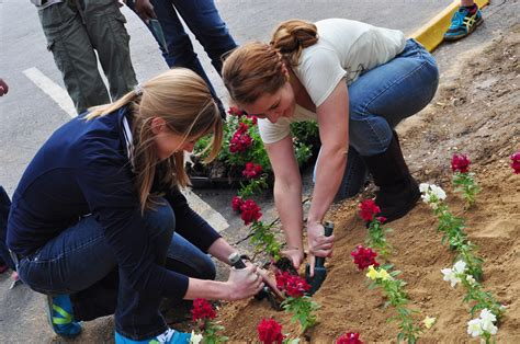 cbellsville university s earth day is celebrated with planting of tree flowers