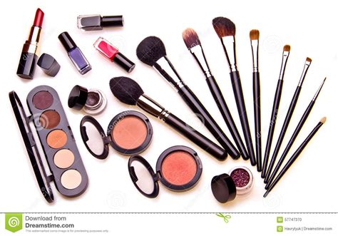 Set Of 7 Makeup Tool Set set of essential professional make up tools stock photo