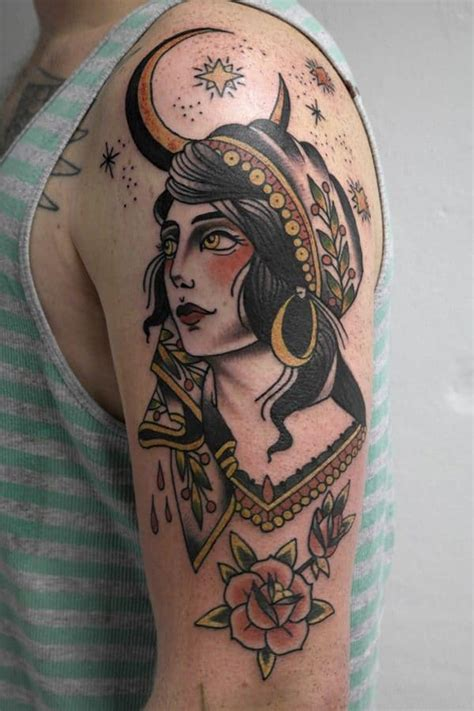 gypsy woman tattoo 55 beautiful tattoos for those forever wandering