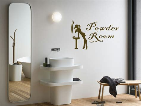 wall vinyl sticker decals mural powder room sign a1587
