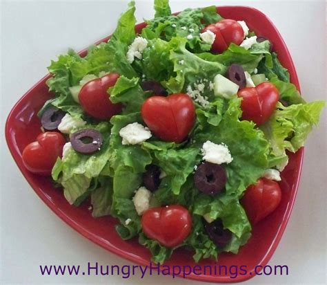valentines salad s day salad topped with tomato hearts hungry