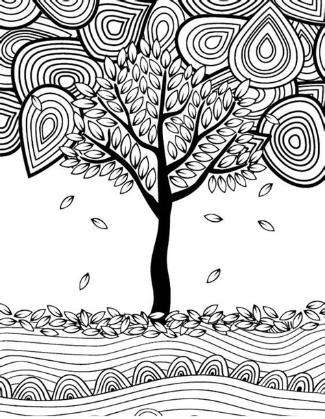 this fall themed adult coloring page is so much fun i