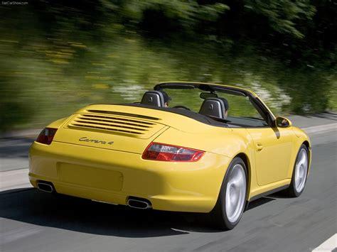 yellow porsche 911 2006 yellow porsche 911 carrera 4 cabriolet wallpapers