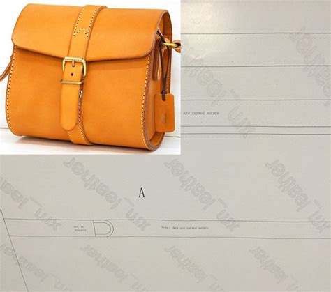 leather paper bag pattern leather pattern diy designs bag paper sweing template