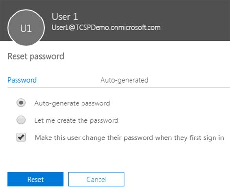 Office 365 Mail Password Reset Reset Another User S Password In Office 365 Tcsp
