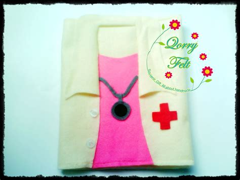 membuat cover buku lucu sul binder unik jas dokter qorry felt n craft