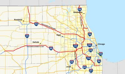 toll roads in usa map illinois state toll highway authority