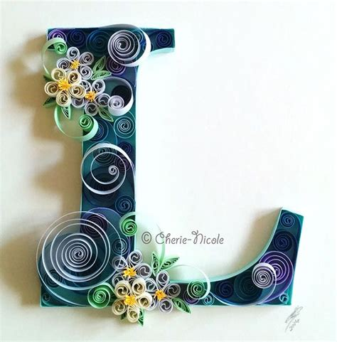 printable letters for quilling quilled letter l personalised quilling on behance
