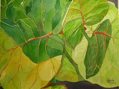 watercolor painting techniques for leaves paintings by