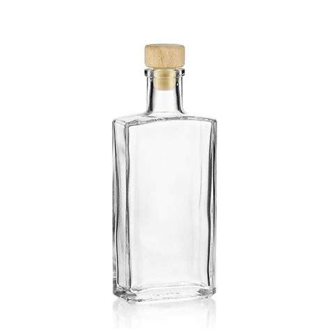 ml clear glass bottle shiny world  bottlescouk