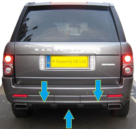 range rover l322 rear bumper undertray tow eye cover for range rover l322 exterior
