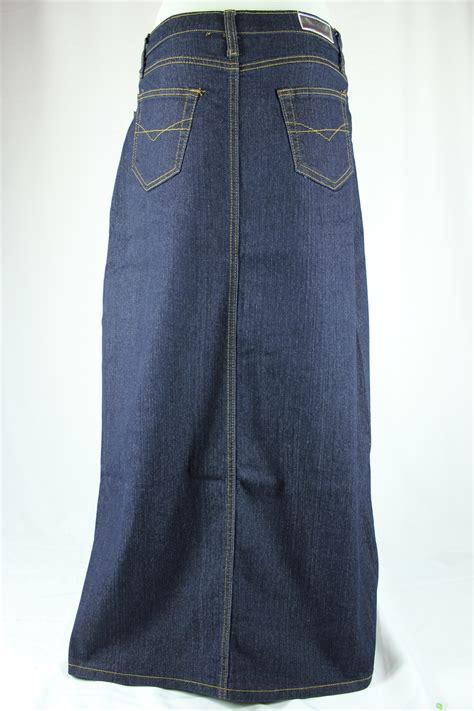 indigo blue jean skirt plus size 20