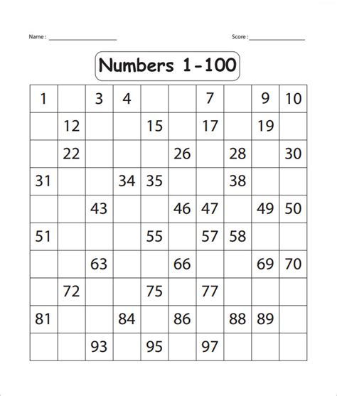 numbers to 100 worksheets lesupercoin printables worksheets