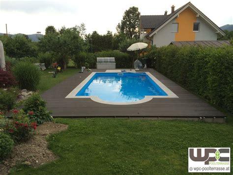 wpc poolumrandung wpc bilder referenzen terrassendielen wpc terrasse bilder