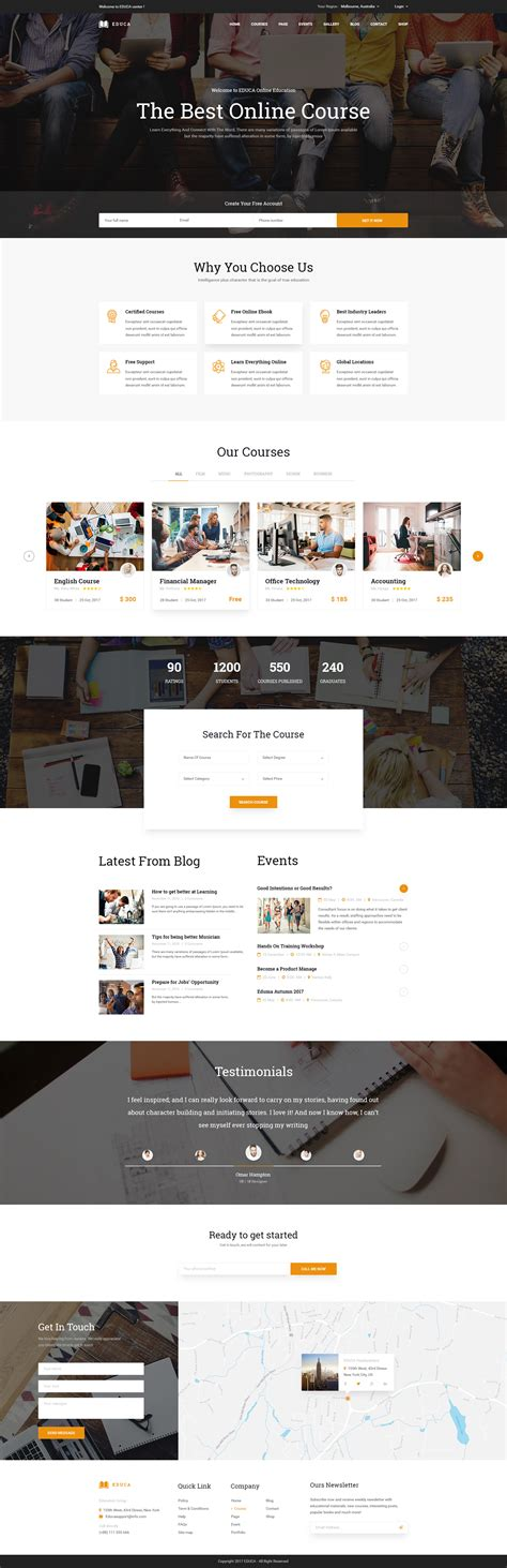 home design online course educa multiconcept education courses psd template by