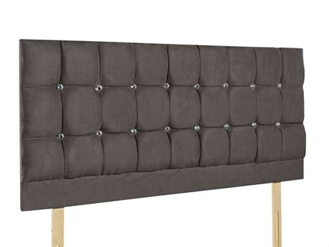 double upholstered headboard giltedge beds cube diamond grey 4ft small double fabric