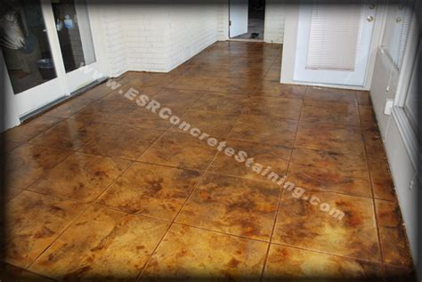 acid stain concrete floors sted patios flooring acid stained concrete duncanville tx esr decorative