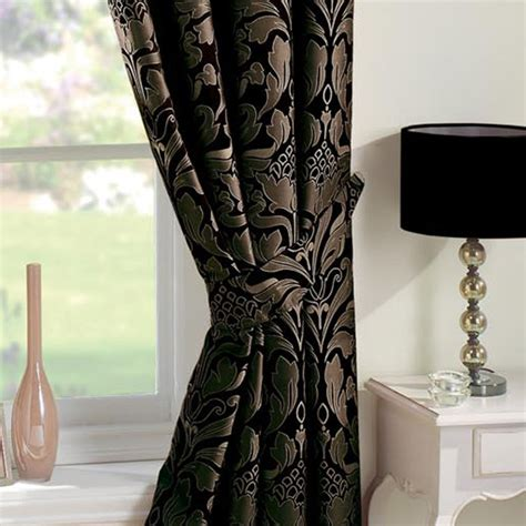 black and gold damask curtains black gold curtains uk curtain menzilperde net