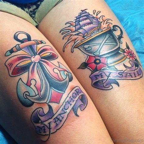anchor thigh tattoo fantastic anchor tattoos on thigh