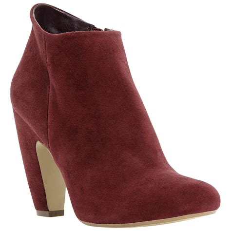 steve madden panelope suede ankle boots in burgundy