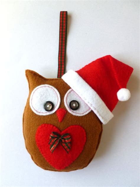 christmas felt owl hanging decoration handmade hanging