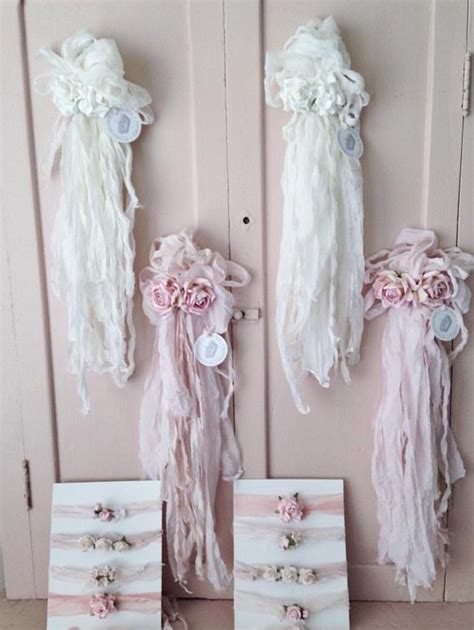 shabby chic ribbons beautiful shabby chic and flower