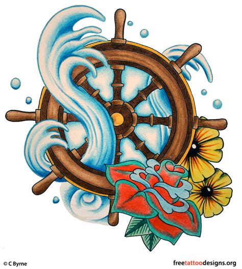 traditional school tattoos anchor ship pin