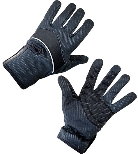 bike gloves aero tech windproof thermal reflective gloves black