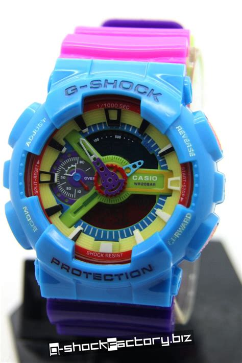 G Shock Collour g shock ga 110 g hyper colors limited edition blue