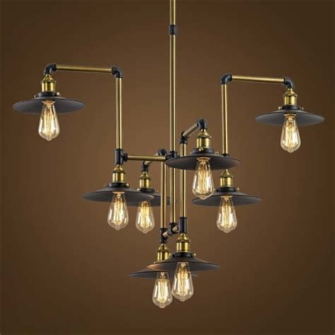 industrial style 8 light large pendant chandelier