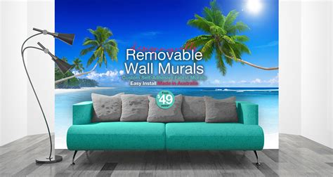removable wall murals design my walls self adhesive fabric wallpaper wall murals