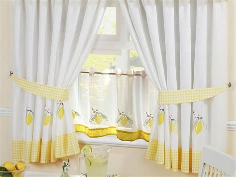 gingham cafe curtains lemon gingham kitchen embroidered kitchen curtains 24