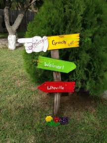 yard decorations grinch sign whoville yard decoration decor