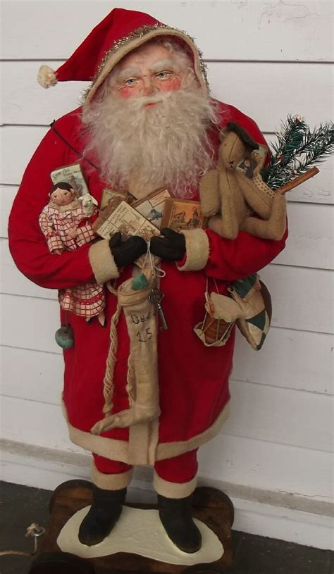 Handcrafted Santa Claus - handmade santa claus toys doll teddy by sweet