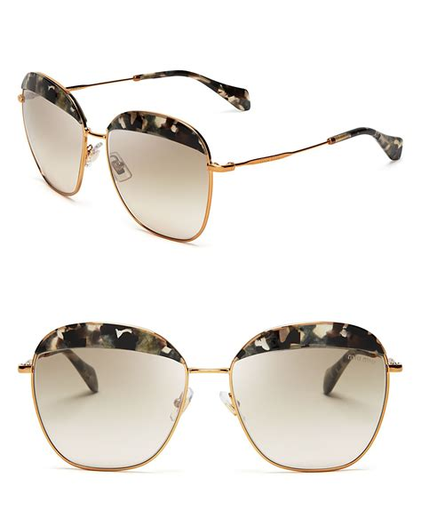 Miu Miumiu 603 Kacamata Sunglasses 1 lyst miu miu frame evolution oversized sunglasses in metallic