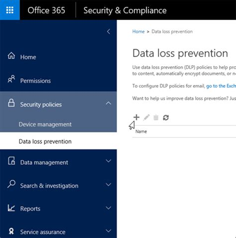 Create A Dlp Policy From A Template Office 365 Data Center Access Policy Templates