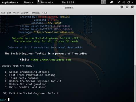 social engineering toolkit tutorial kali linux fix os error errno 13 permission denied etc