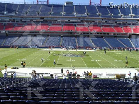section 212 e nissan stadium section 212 seat view club level sideline